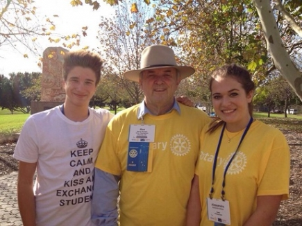 Alessandra Bedon mit Ron D. Burton President of Rotary International